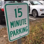 Fifteen Minute Parking banner
