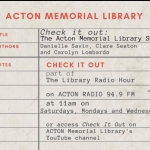 Check it Out: The Acton Memorial Library Radio Show banner