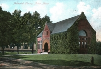 Acton Memorial Library, postcard postmarked 1906 (AML archives 1990.2.1)
