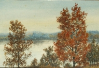 On the Lake Shores (2002.2.1).   Forge Pond, Westford, 1912