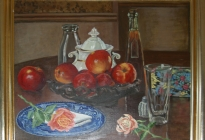 Still Life  (1997.2.2).  Painted as an assignment while studying with Albion Bicknell.