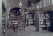 Interior of the Memorial Library (AML archives 67.5.2c)