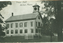 Acton Town Hall (postcard postmarked 1907) (AML archives 74.16.1p)