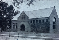 Acton Memorial Library, postcard postmarked 1908   (AML archives 2020.x)