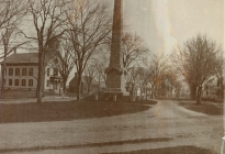 Isaac Davis Monument, Town Hall, Acton Memorial Library; Acton Center (image courtesy of Brewster Conant, 001.02b)
