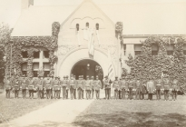 Members of the G.A.R. in front of the Acton Memorial Library (image Courtesy Brewster Conant)