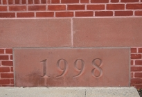 Cornerstone for the 1998 addition.