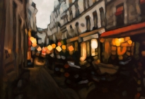 Rue des Motos - 48x72, oil on canvas, 2019