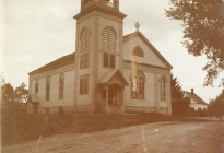 Acton Congregational Church, after 1898 renovation (image courtesy Brewster Conant 001.04a)
