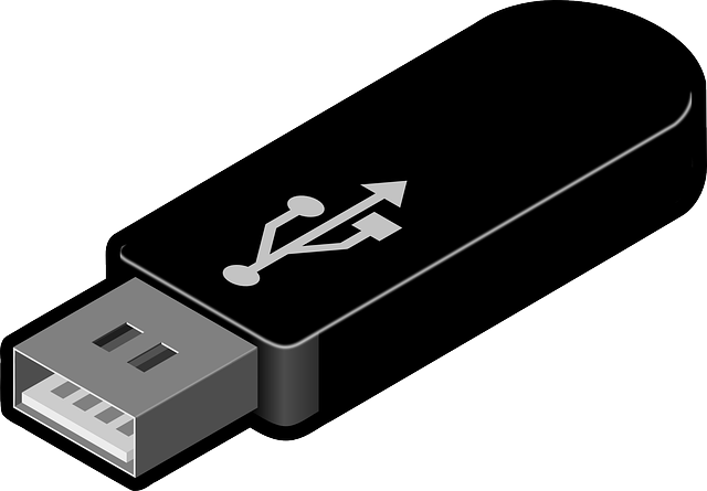 Graphic of a USB thumb drive