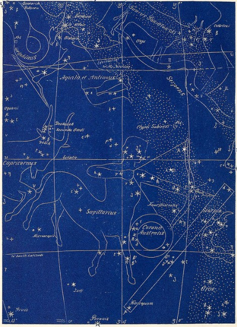 Sky chart, image from the Internet Archive