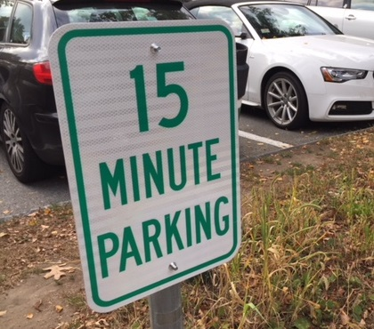 Photo of 15 Minute Parking sign