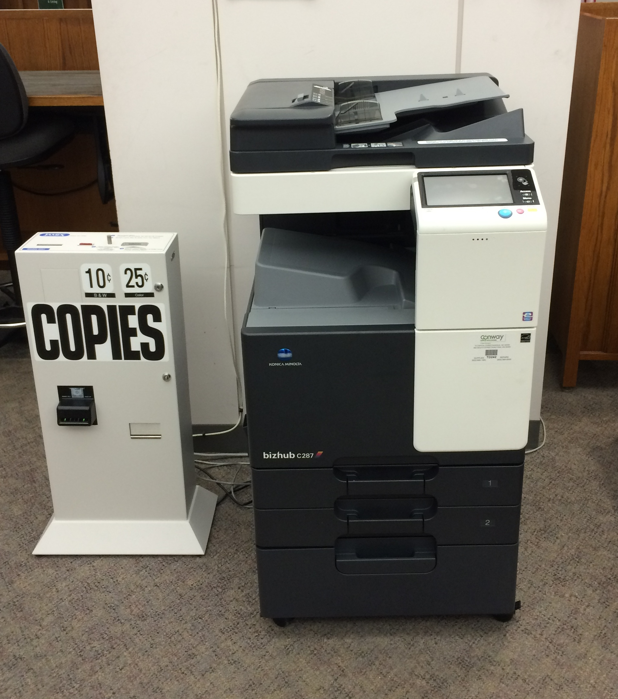 Photograph of new photocopier