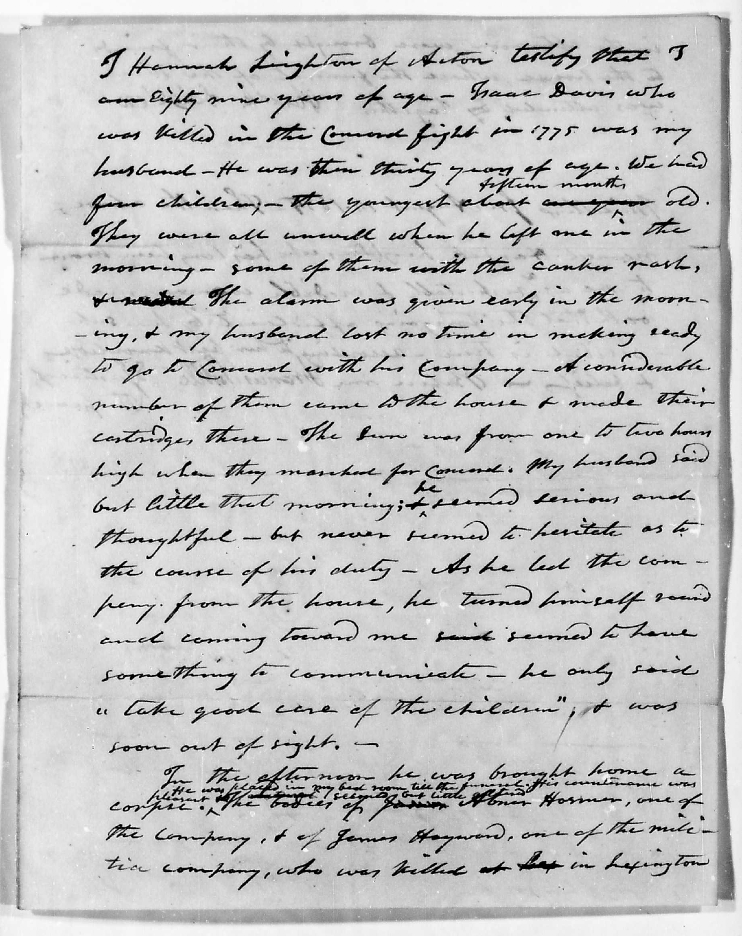 Hannah Leighton deposition page 1