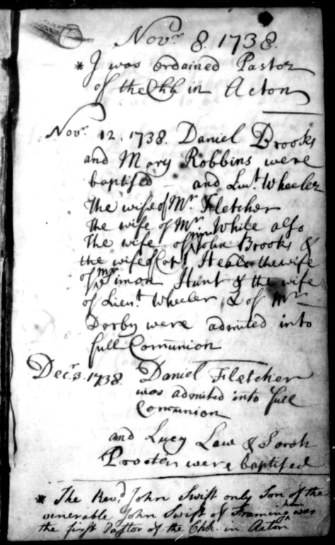 Image of church record