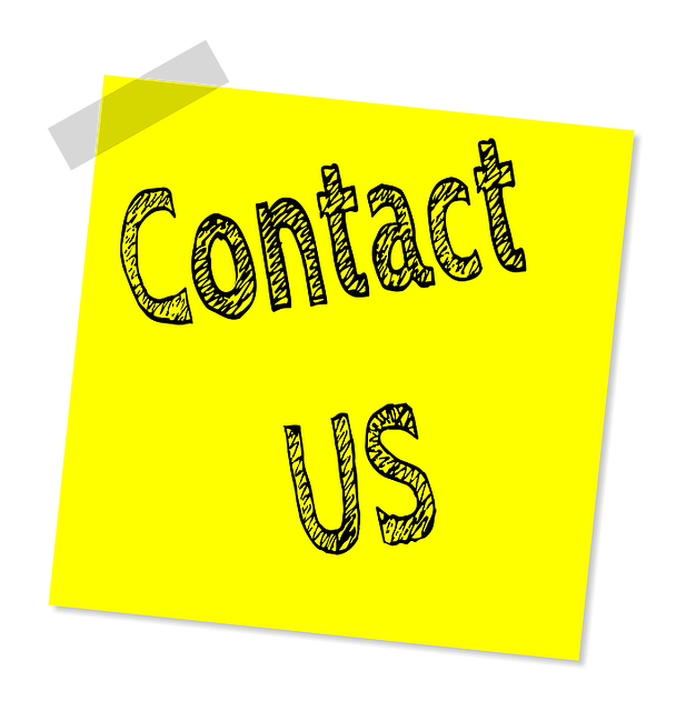 Image of post-it that says Contact Us