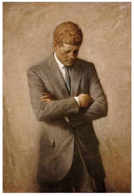 Portrait painting of JFK, from Pixaby public domain images